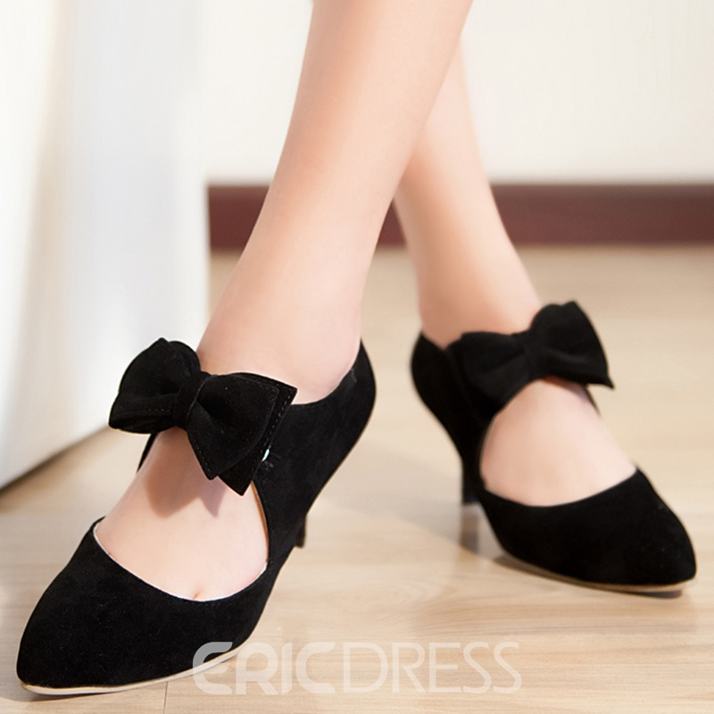 Ericdress Lovely Boetie Point Toe Pumps