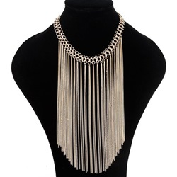 Ericdress Multilayer Metal Chain Tassels Necklace thumbnail
