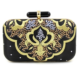 Ericdress Handmade Geometric Rhinestone Evening Clutch