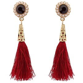 Ericdress Cotton Line Design Tassels Earrings