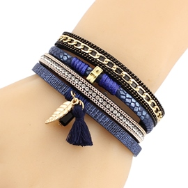 Ericdress Multilayer Leather Magnetic Buckle Bracelet