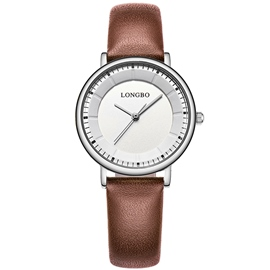 Ericdress Concise Coffee Band White Case Men's Watch