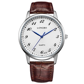 Ericdress Classic Coffee Band Round Case Men's Watch
