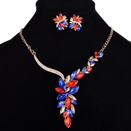 Ericdress Retro Crystal Inlaid Two-Pieces Jewelry Set