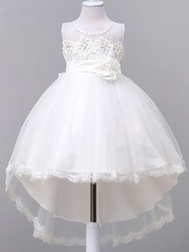 Ericdress Lace Swallowtail Sleeveless Princess Girls Dress