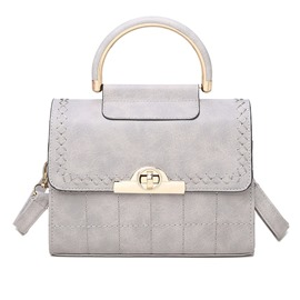 Ericdress Simple Pure Color Latch Handbag