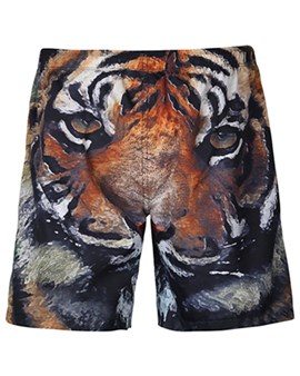 short de plage ericdress animal 3d mens