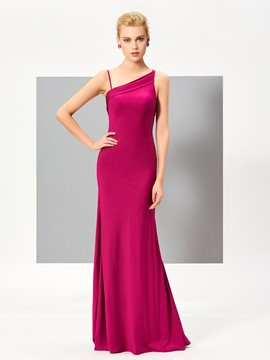 Ericdress Sexy Sheath One Shoulder Backless Floor Length Evening Dress