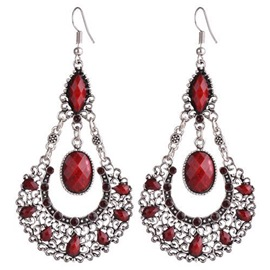 Ericdress Ethnic Style Water Droplets Pendant Earrings