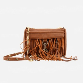 Celebrity Tassel Decorated PU Crossbody Bag