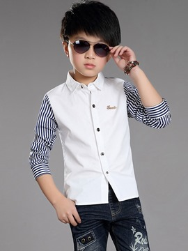 Ericdress Stripe Patchwork Spring Boys Shirt