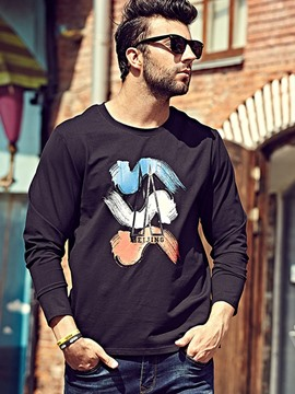 Ericdress Plus Size Long Sleeve Loose Casual Men's T-Shirt