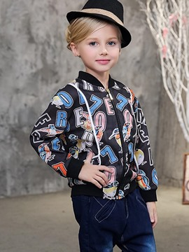 Ericdress Letter Printed Spring Girls Jacket