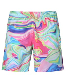 ericdress suelta gradiente 3d mens beach shorts