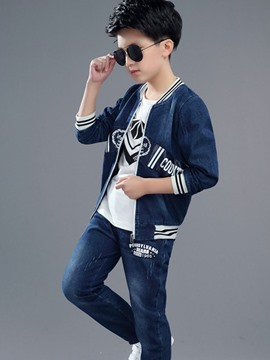 Ericdress Appliques Denim Leisure Boys Outfit