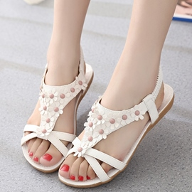 Ericdress Lovely Petal Open Toe Flat Sandals