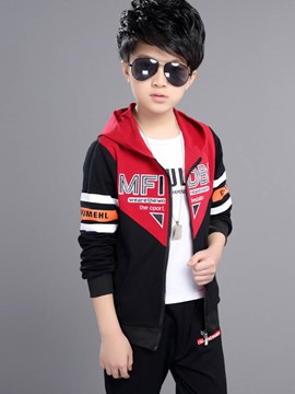 Ericdress Letter Hooded Leisure Boys Outfit
