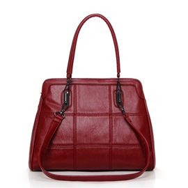 Ericdress Temperament Plaid Patchwork Handbag