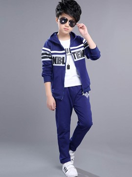 Ericdress Stripe Sportswear Long Sleeve Boys Outfit
