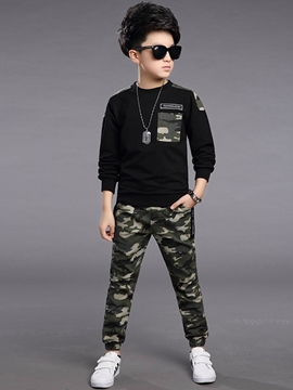 Ericdress Camouflage Patchwork Spring Boys Outfit