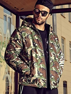 Ericdress Plus Size Camouflage Casual Warm Men's Coat