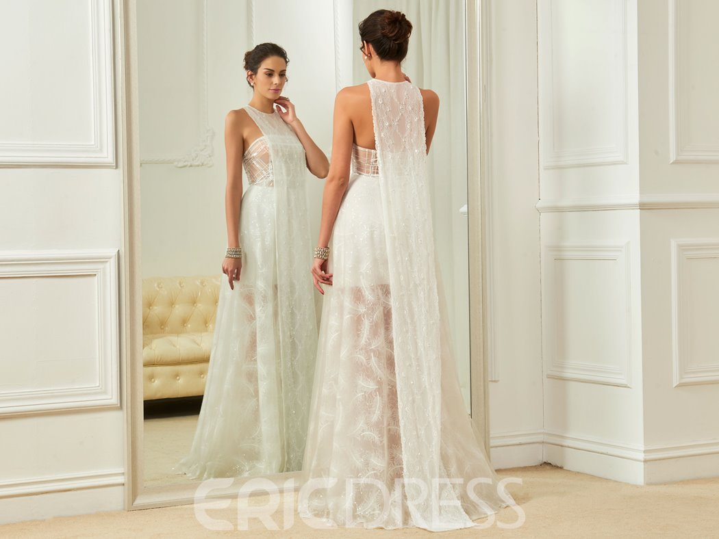 Ericdress Charming A Line Lace Beach Wedding Dress