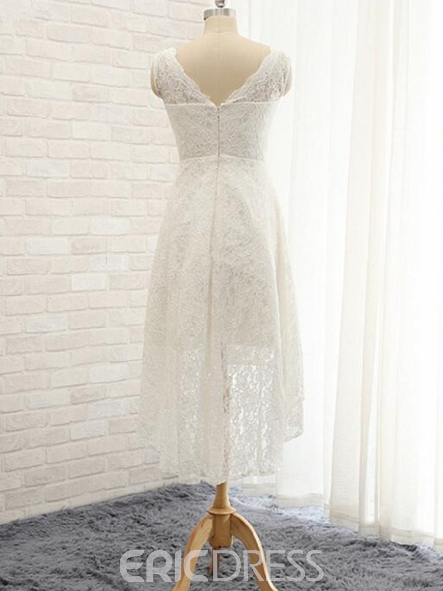 Ericdress Casual A Line Lace Beach Wedding Dress