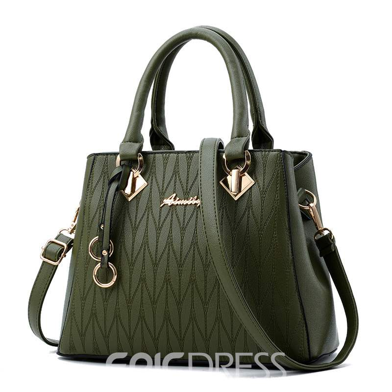 Ericdress Ladylike Geometric Embossed Motorcycle Handbag
