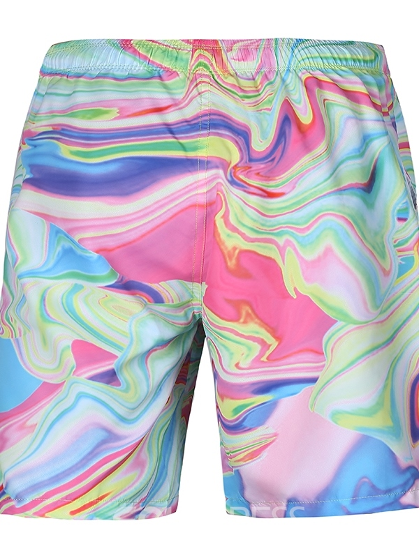 Ericdress Loose Gradient 3D Mens Beach Shorts