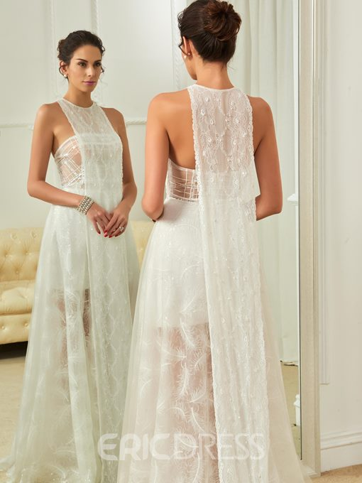 Ericdress Lace Beach Hall Wedding Dress