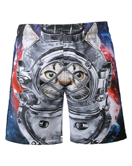 Ericdress Loose Mens 3D Beach Shorts