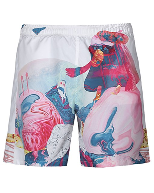 Ericdress 3D Loose Polyester Mens Beach Shorts