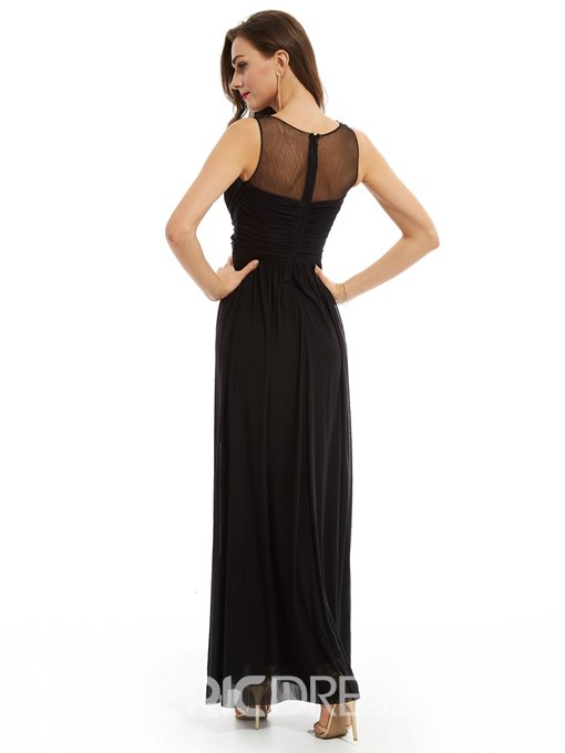 Ericdress A Line Scoop Neck Beaded Evening Dress With Zipper Up