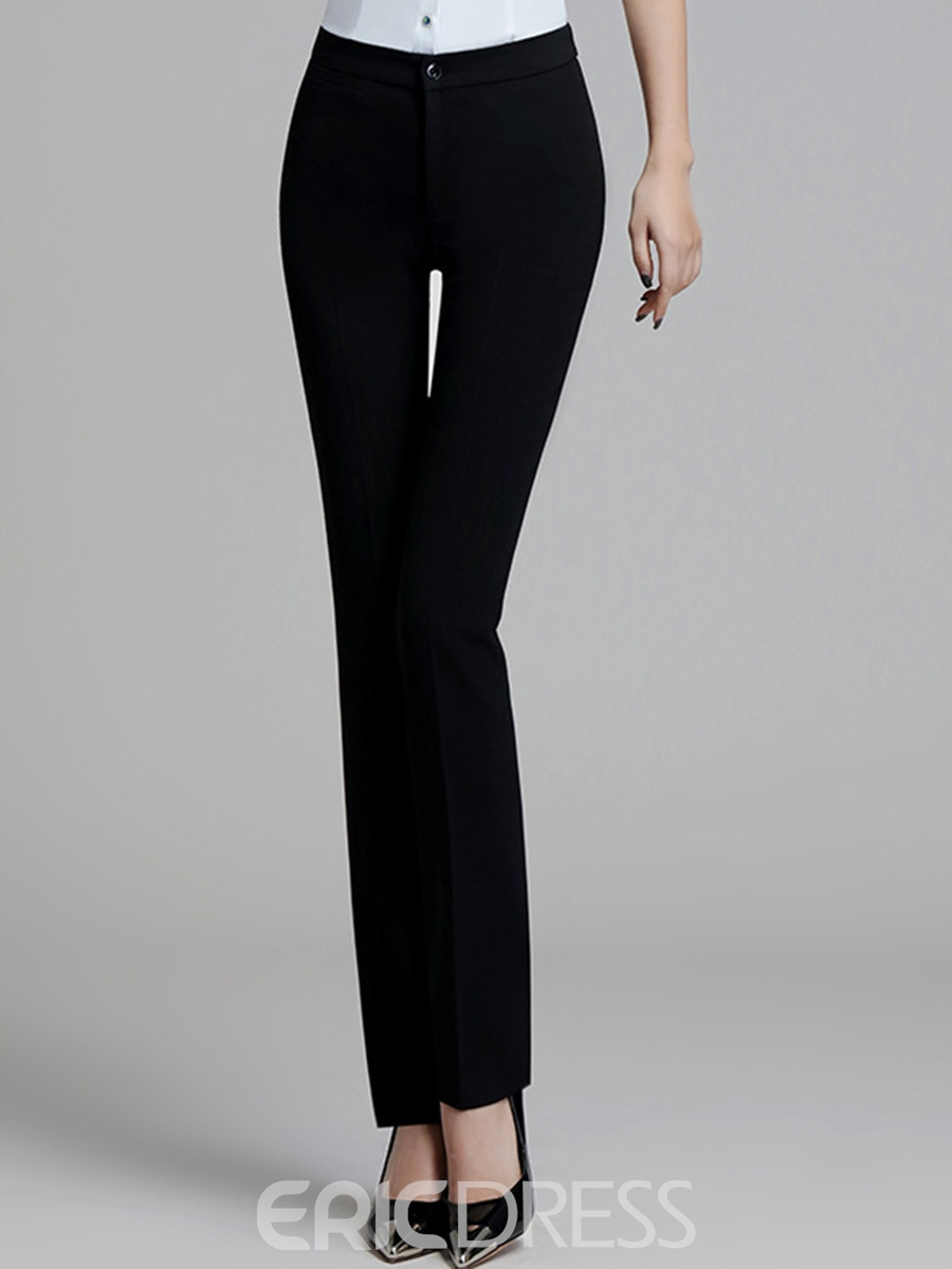 Ericdress Slim Thin High-Waist Women's Dress Pants