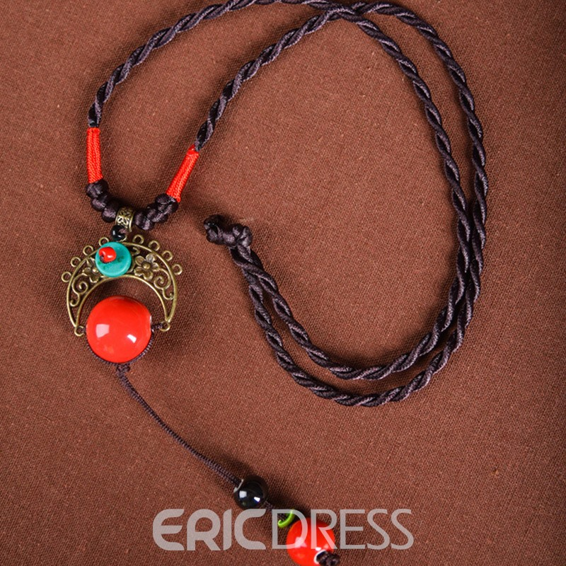 Ericdress Original Handmade Ethnic Style Sweater Chain Necklace