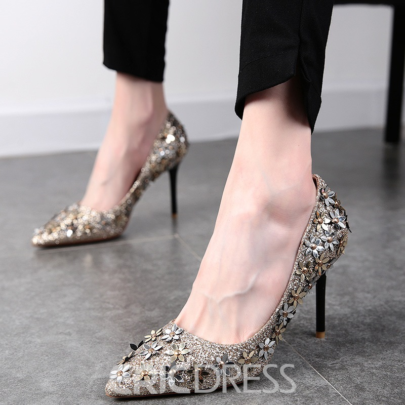 Ericdress Flower Sequins Decorated Pumps
