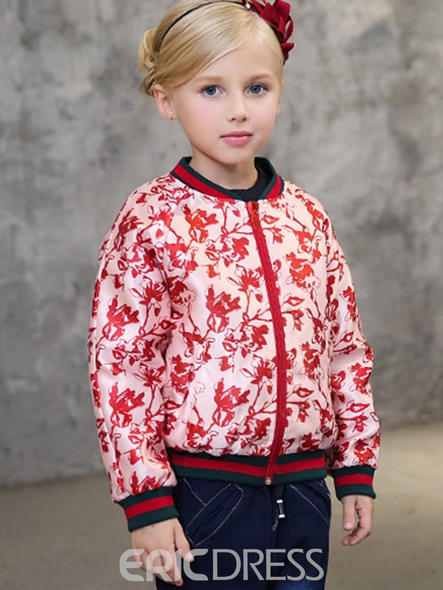 Ericdress Floral Print Spring Girls Jacket