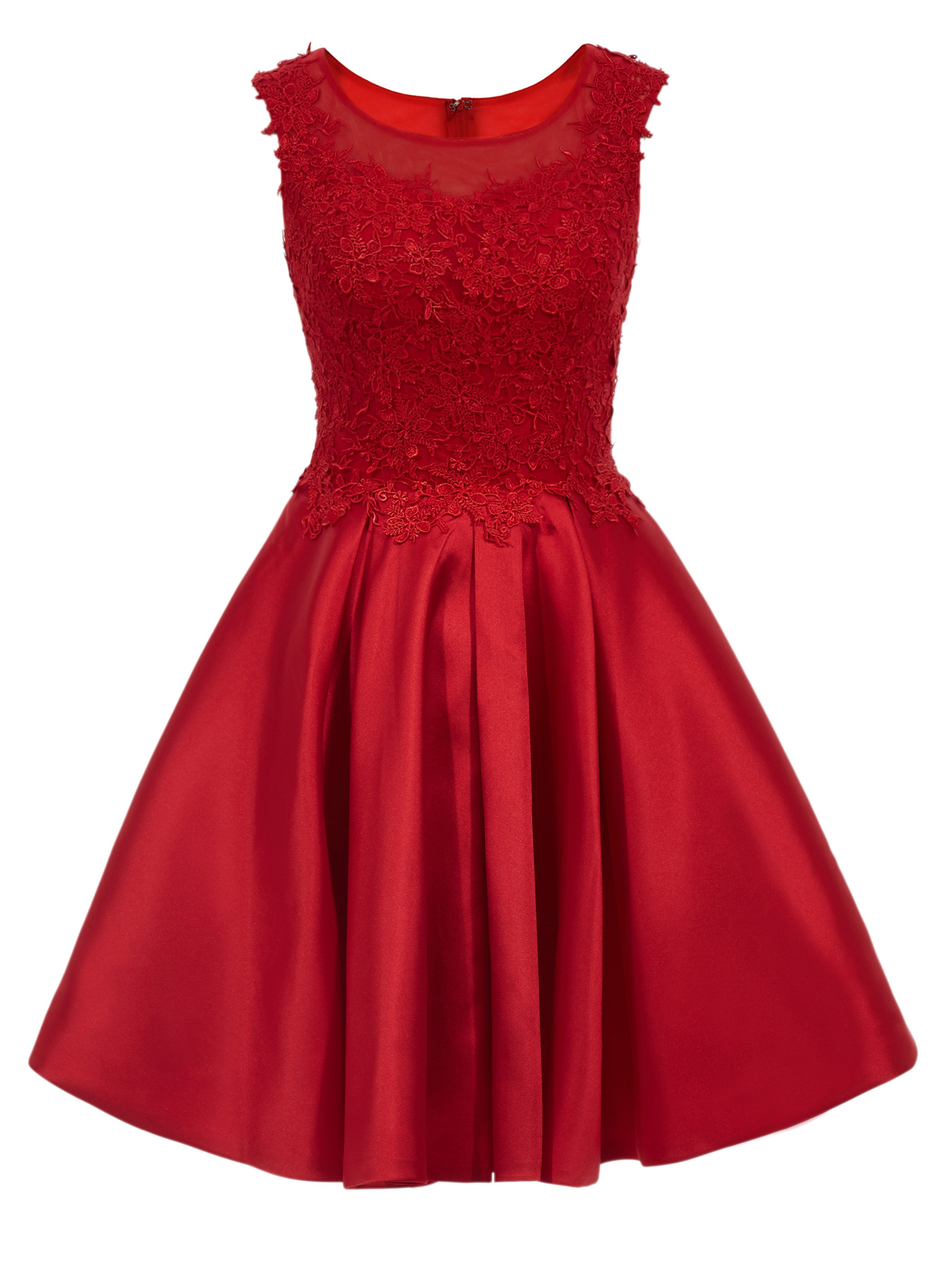 Ericdress Cap Sleeves Short A-Line Homecoming Dress With Appliques Lace