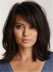 Ericdress Loose Messy Lob Medium Wave Synthetic Hair With Bangs Capless Wigs 14 Inches ericdress