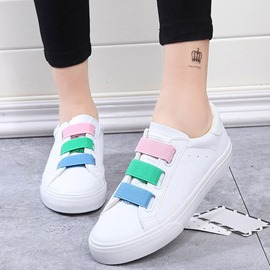 Ericdress Colorful Strap Round Toe Flats
