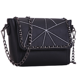 Stylish Irregular Geometric Patchwork Shoulder Bag