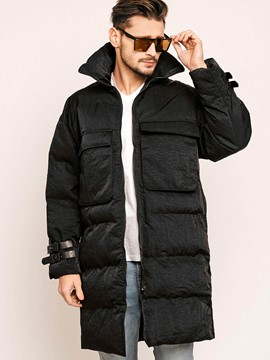 Plain Hooded Men's Down Jacket