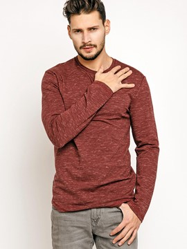 Ericdress Round Neck Casual Long Sleeve Men's T-Shirt