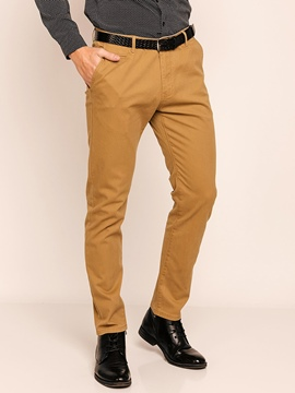 Plain Straight Men's Casual Pants