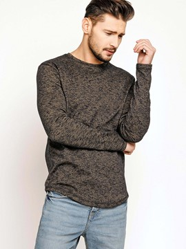Ericdress Round Neck Long Sleeve Pullover Men's T-Shirt