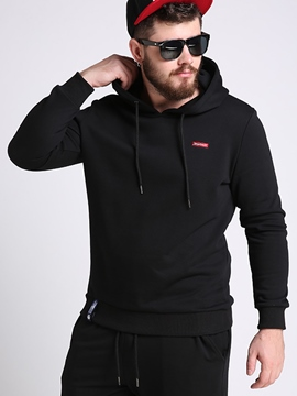 Ericdress Plus Size Vogue Back Print Pullover Men's Hoodie