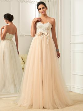 Ericdress Charming Sweetheart A Line Color Wedding Dress