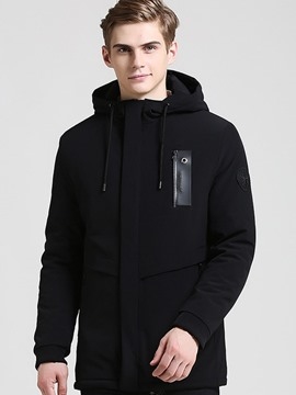 Ericdress Mid-Length Plus Size Warm Men's Coat