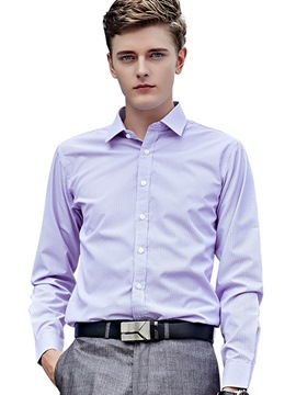 Ericdress Plain Formal Long Sleeve Men's Shirt