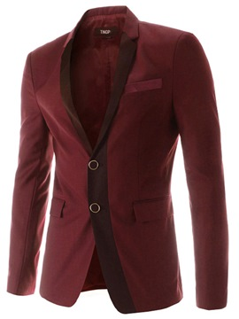 Ericdress Patchwork Slim Vogue Men's Blazer